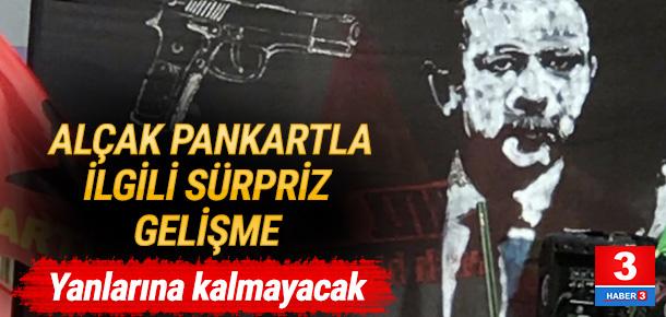 Olay pankartla ilgili Türkiye de harekete geçti.