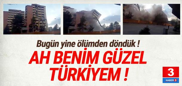 Sivas'ta korkutan yıkım