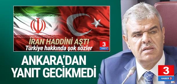 İran'ın küstah açıklamasına Türkiye'den cevap