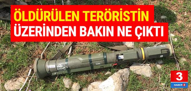 Teröristin üzerinden yeni nesil TAS silahı çıktı