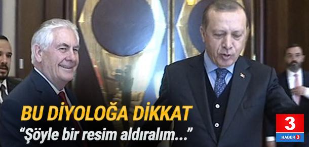 Erdoğan ile ABD'li konuğu arasında ilginç diyalog