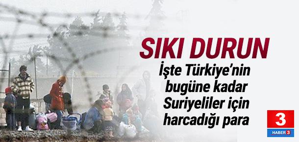İşte Türkiye'nin Suriyeliler için harcadığı para