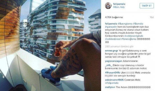 Melo'dan Galatasaray'a Destek Mesajı