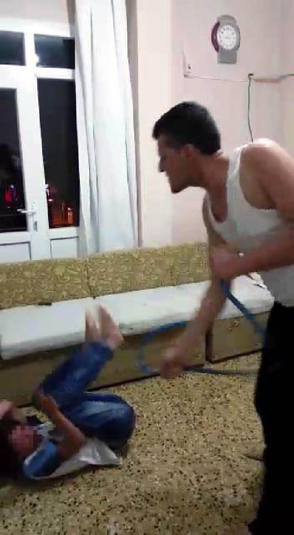 Babadan oğluna hortumlu işkence !