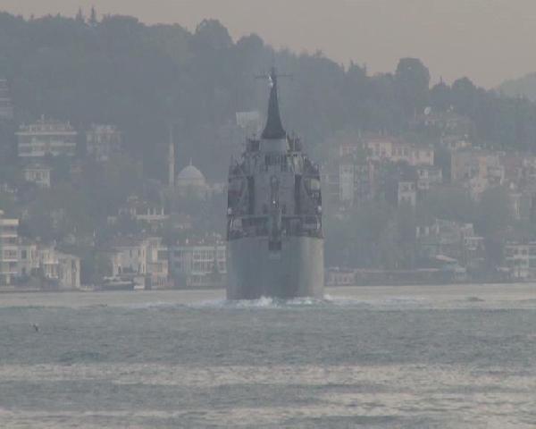 İstanbul Boğazı'nda hareketli saatler !