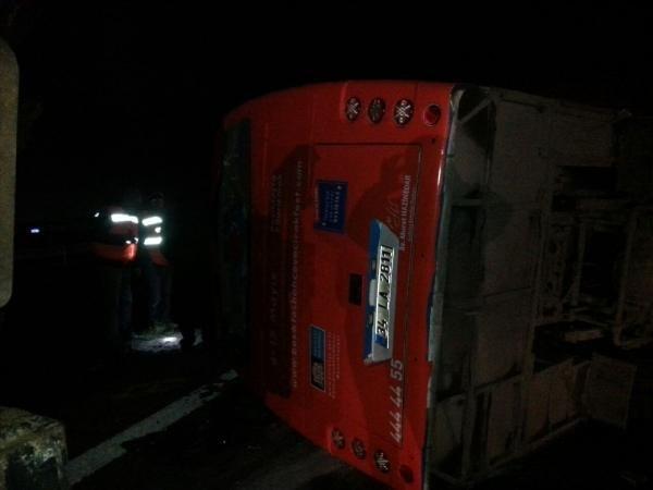 TEM'de feci kaza: 22 yaralı