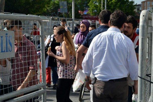 HDP mitingine büyük güvenlik önlemi !
