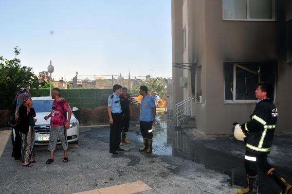 Apartman yönetimine kızıp evini yaktı