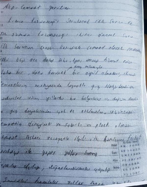 FETÖ'den tutuklanan savcının defterinde bulundu