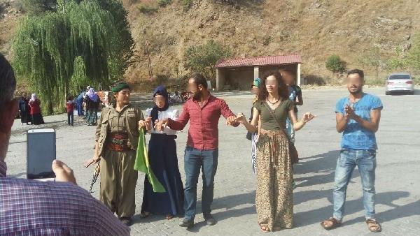Yol kesen PKK'lılarla halay çeken üniversiteli gözaltına alındı