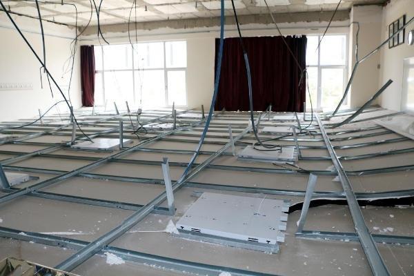Derste tavan çöktü: 5 yaralı