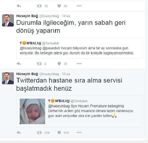 Sosyal medyada tepki yağdı, Defne bebeğe randevu verildi