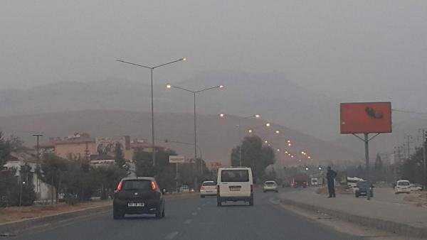 Mardin'de toz fırtınası paniği