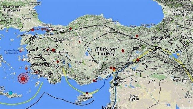 Ege denizinde peş peşe 9 deprem !