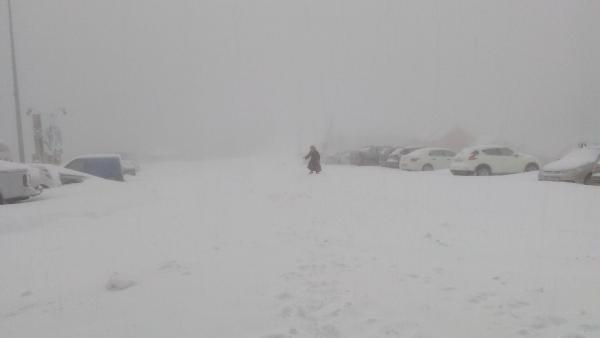 Kartepe'de yoğun kar yağışı