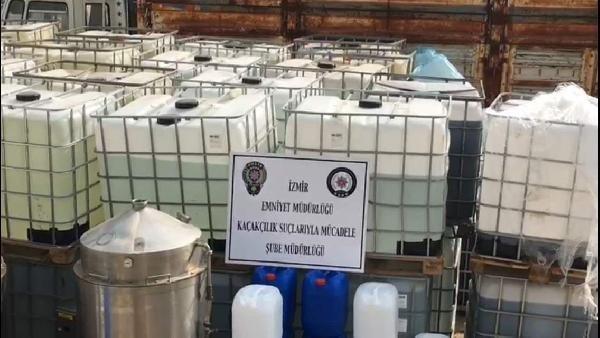 40 ton sahte içki, 100 ton ham madde yakalandı