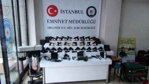 Zeytinburnu ve Esenyurt'ta silah atölyelerine baskın !