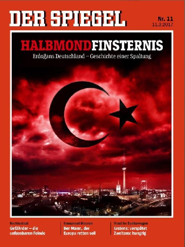 Alman Der Spiegel'den Türkiye kapağı