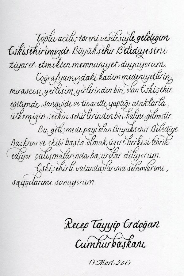Erdoğan'dan CHP'li belediyeye tebrik
