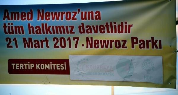 Nevruz pankartlarına DTK ayarı