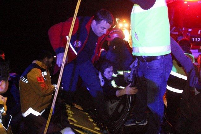TEM'de feci kaza: 8 yaralı