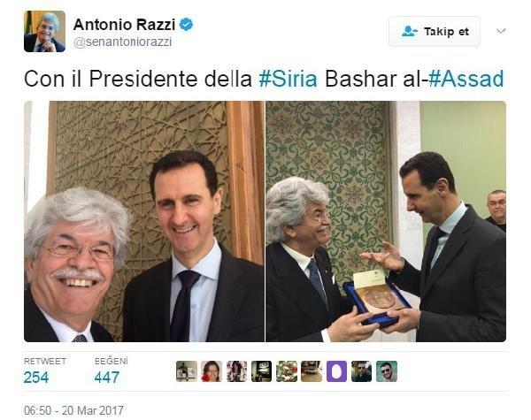 Esad'la selfie çekildi, tepki yağıyor