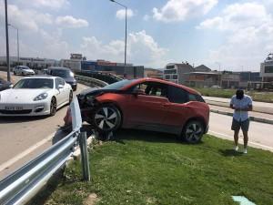 Sercan Yıldırım trafik kazası geçirdi !