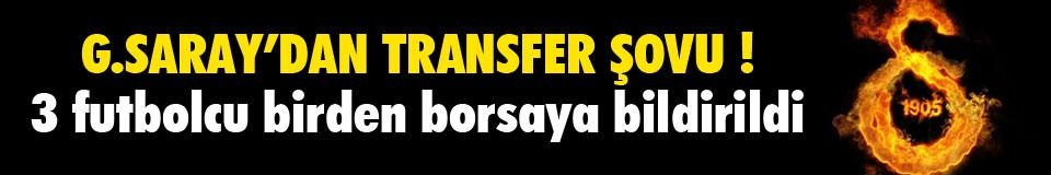 G.Saray'dan transfer şov !