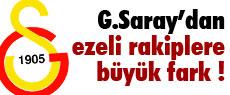 Galatasaray'dan ezeli rakiplere büyük fark