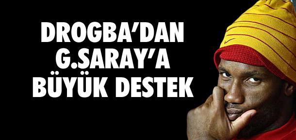 Drogba'dan Galatasaray'a destek