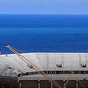 Akyazı Stadı'nda maçtan sonra denize