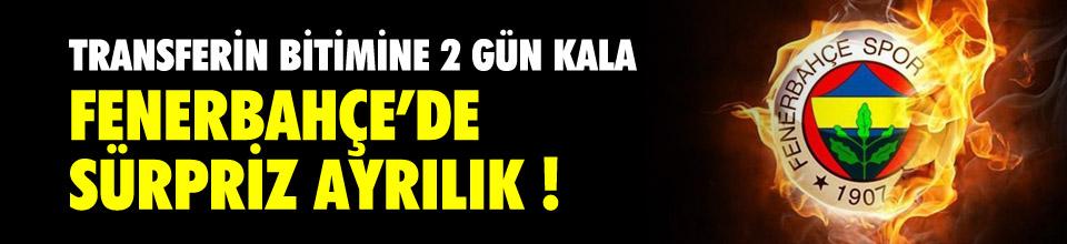 Fenerbahçe'de sürpriz ayrılık !