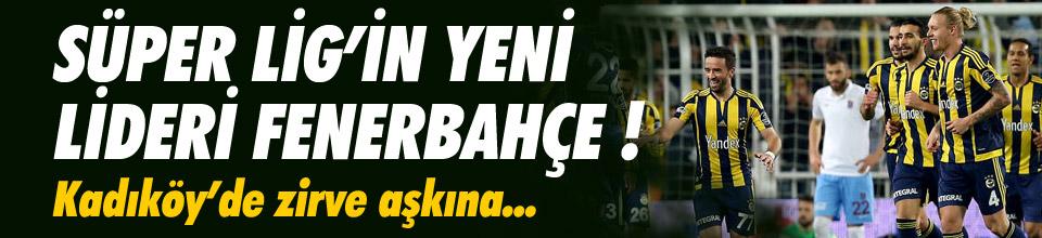 Süper Lig'in yeni lideri Fenerbahçe !