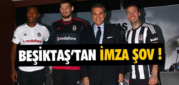 Beşiktaş'tan imza şov !