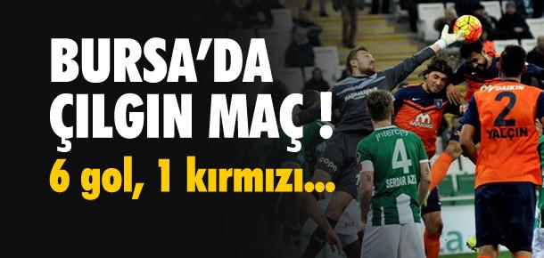 Bursa'da çılgın maç ! 6 gol, 1 kırmızı...