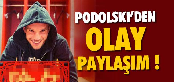 Podolski'den olay paylaşım !