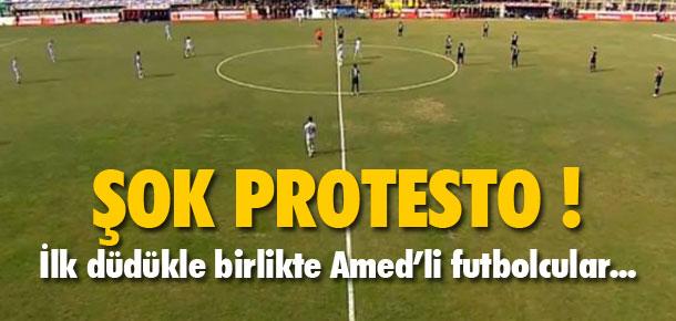 Amedspor'dan protesto !