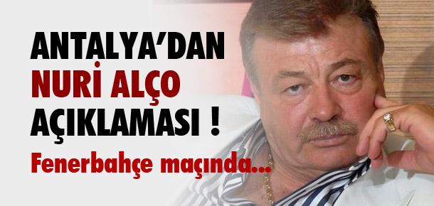 Antalyaspor'dan Fenerahçe açıklaması