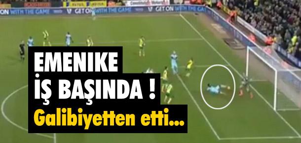Emenike öyle bir gol kaçırdı ki...