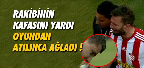 Rakibinin kafasını yardı oyundan ağlayarak çıktı !