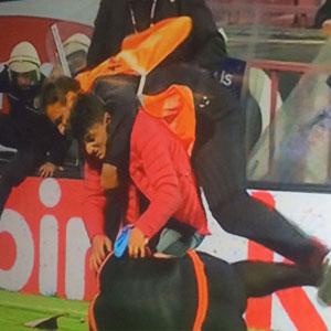 Trabzon'da hakemi dövdüler !