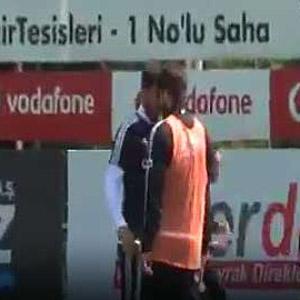 Beşiktaş idmanında şok kavga !