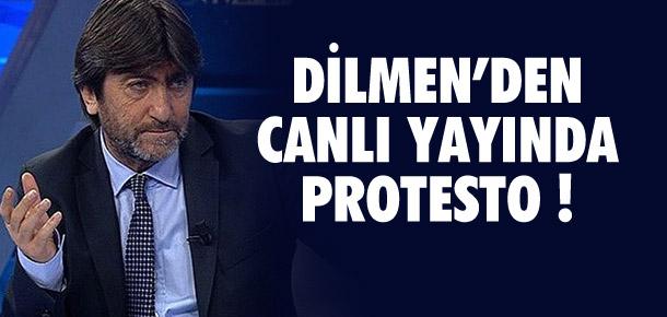 Rıdvan Dilmen'den canlı yayında protesto