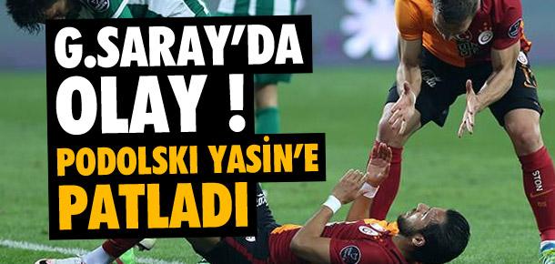 Podolski'den Yasin'e şok hareket !