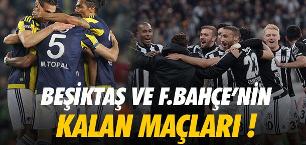 Beşiktaş ve Fenerbahçe'nin kalan maçları !