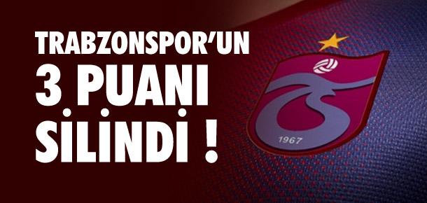 Trabzonspor U19 Takımı'nın 3 puanı silindi