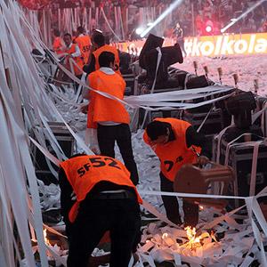 Vodafone Arena'da yangın paniği