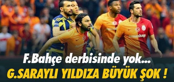 Galatasaraylı yıldıza şok !