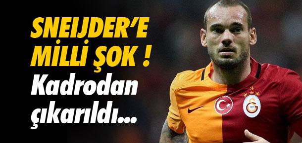 Sneijder'e milli şok !