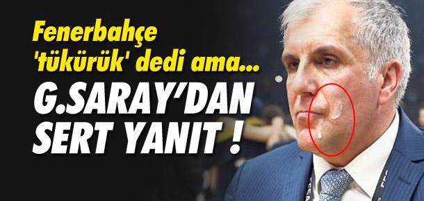 Galatasaray'dan sert yanıt ! Tükürük değil ayran...